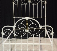 "419.....Iron & Brass bed 75""H X 54"" W X 76 1/4"" L"