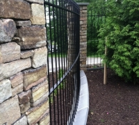 217 -  Antique  iron   fence   curved  at our  workshop to   customers  specs.