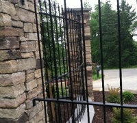 218 - -  Antique  iron   fence   curved  at our  workshop to   customers  specs.