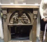 246 - 36'' w x 43'' h - carved oak gnome blacksmiths