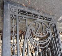 198  ORIGINAL CLUB ''21'' IRON DOOR - 600 LBS  - ANTIQUE IRON DOOR FROM NEW YORK CITY - CIRCA 1910 - 46'' W X 93'' H