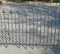 01-273 FT LONG !! X 36'' H - C. 1860 - extra thick 5/8'' and 1/2'' antique fence - 63 ft is on a 15 degree angle