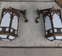 179-pair-of-antique-gothic-brass-wall-lights