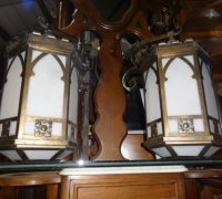 13-pair-of-gothic-brass-hanging-lights