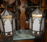 14-pair-of-gothic-brass-hanging-lights