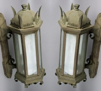 "15A...BRONZE 27"" H X 13"" D X 12"" W SCONCES"