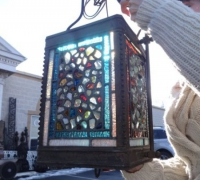 18- sold -antique-stained-glass-hanging-light