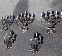 29-set-of-5-antique-candelabras  - BRONZE