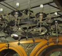 04- 2 GREAT GOTHIC LIGHTS w AXES each - 48'' W - see #167 - 168 - 180 to 185