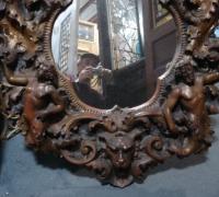 040-antique-cherub-carved-mirror