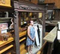 10.....GREAT CARVED WALNUT MIRROR...C. 1870....91