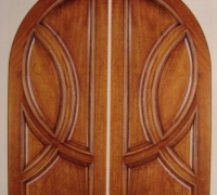 212-pair-of-new-wood-arched-doors