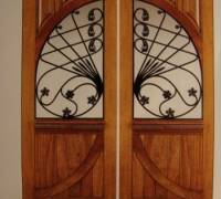 213-pair-of-new-iron-and-wood-doors