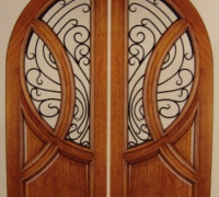 214-pair-of-new-iron-and-wood-arched-doors
