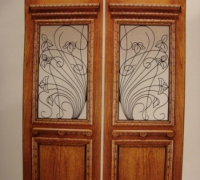 216-pair-of-new-iron-and-wood-doors