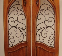 217-pair-of-new-iron-and-wood-doors