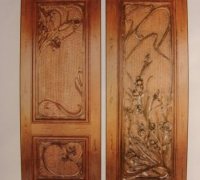 223-pair-of-new-carved-wood-doors