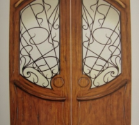 42-pair-of-new-iron-and-wood-doors