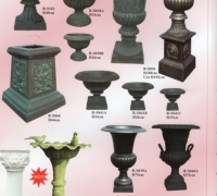 16-new-iron-urns-and-new-iron-birdbath