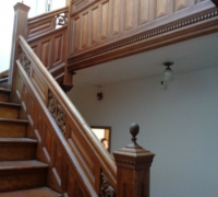 56 -The  FINEST antique carved staircase in the USA!  -  With all the matching  wall paneling and  paneled large room and doors and matching huge  11 ft  6''h x 85'' w