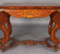 126- sold -antique-inlaid-wood-table
