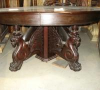 422-sold - antique-carved-griffin-pedestal-table
