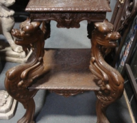 22 sold - -antique-carved-griffin-table