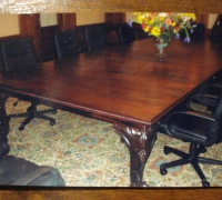 19 - ANY SIZE TABLE TOP WITH 4 ANTIQUE LEGS