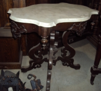 49-sold -antique-carved-table-marble-top