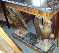 52-sold -antique-carved-eagles-table-marble-top
