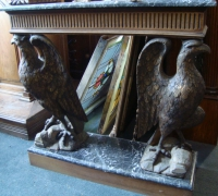 53-sold -antique-carved-eagles-table-marble-top