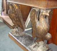 54-sold -antique-carved-eagles-table-marble-top