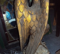 55-sold -antique-carved-eagles-table-marble-top