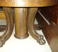 75-antique-carved-pedestal-table