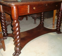 83- sold -antique-carved-barley-twist-table