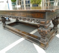 12OLD WORLD - WALNUT - CARVED AND INLAID - 84'' L X 30'' H X 33'' DEEP - C1870