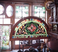 Antique Stained Glass Windows & Doors in Pennsylvania arched window 44 H x 78 W