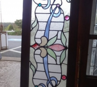 105-sold -antique-stained-glass-window