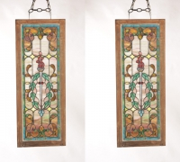 106- sold - antique-stained-glass-windows