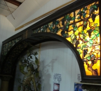 13-rare-tiffany-antique-stained-glass-bar-with-454-jewels-14-4-w-x-10-8-h