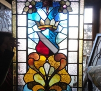38- sold - antique-stained-glass-window