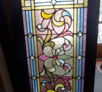 75-sold - antique-stained-glass-window